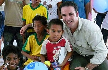 Paul visiting orphanage in East Timor.